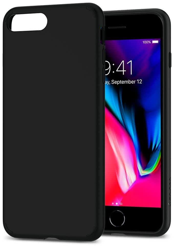 SPIGEN - iPhone 8/7 Plus Case Liquid Crystal  Matte Black (055CS22234)