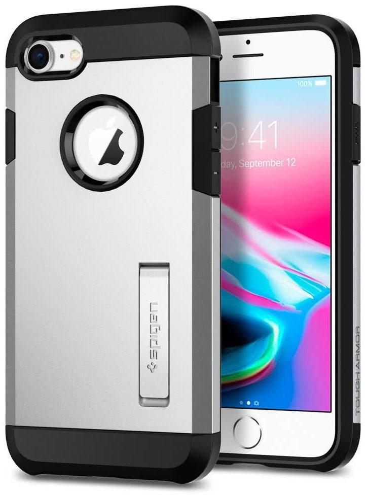 SPIGEN - Apple Iphone 8/7 Case Tough Armor 2  Satin Silver (054CS22217)