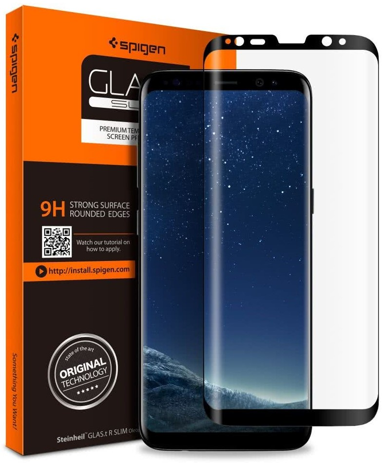 SPIGEN - Samsung Galaxy S8 Screen Protector Case Friendly GLAS.tR Full Cover Glass (565GL21777)