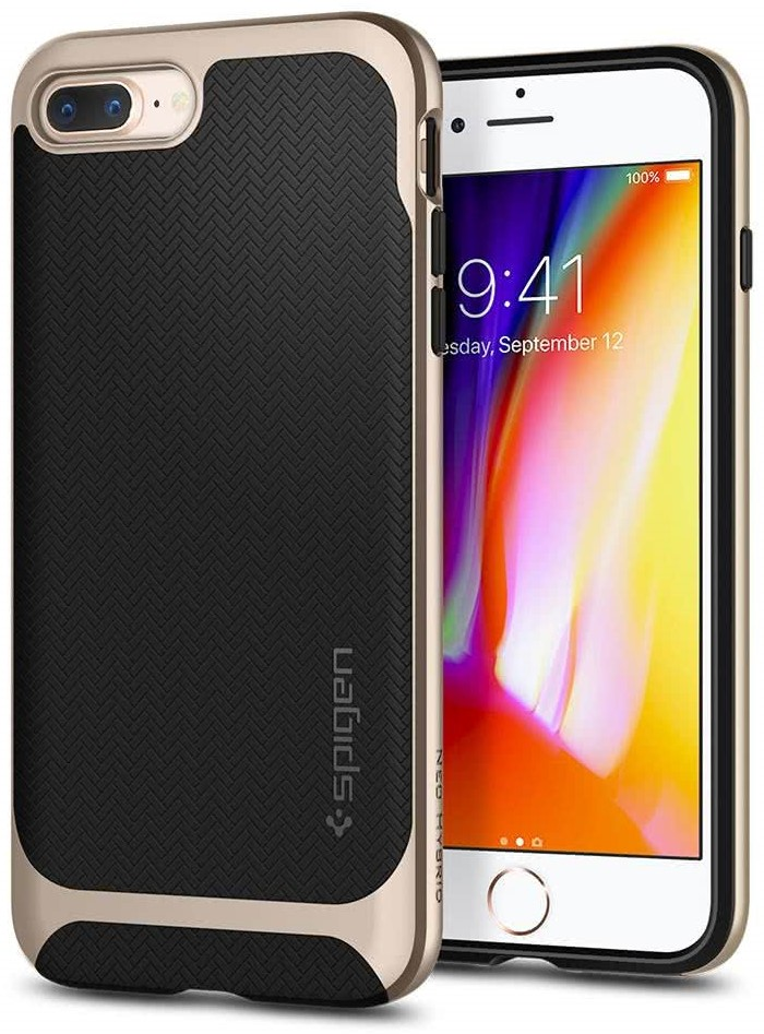 SPIGEN - Apple Iphone 8/7 Plus Case Neo Hybrid Herringbone Champagnegold (055CS22231)