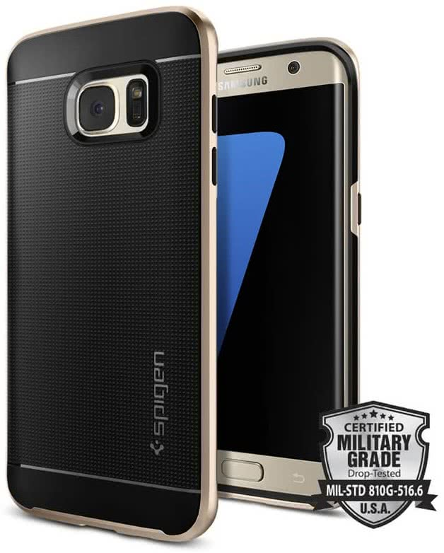 SPIGEN Galaxy S7 Edge Case Neo Hybrid Champagne Gold (556CS20203)