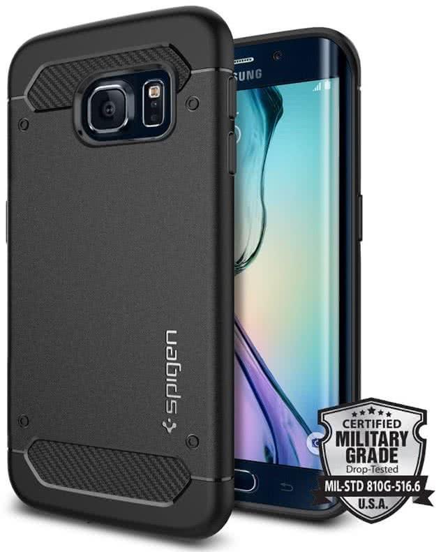 SPIGEN Galaxy S6 Edge Case Rugged Armor, Black (SGP11414)