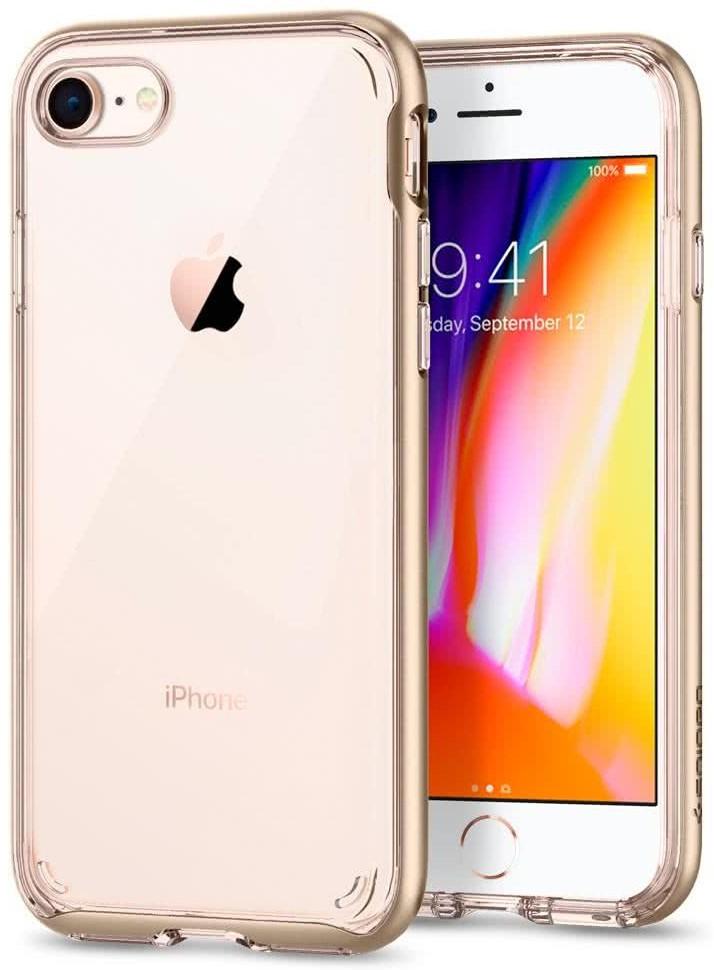 SPIGEN - Apple Iphone 8/7 Case Neo Hybrid Crystal 2  Champagne Gold (054CS22366)