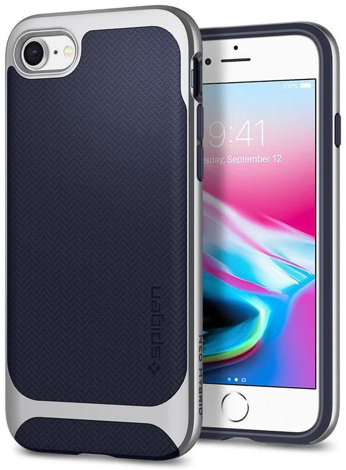 SPIGEN - Apple Iphone 8/7 Case Neo Hybrid Herringbone Satin Silver (054CS22199)