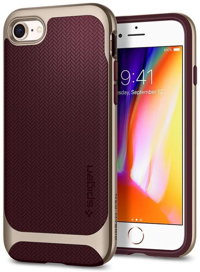 SPIGEN - Apple Iphone 8/7 Case Neo Hybrid Herringbone Burgundy (054CS22198)