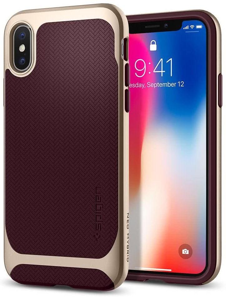SPIGEN - Apple Iphone X Case Neo Hybrid Burgundy (057CS22168)