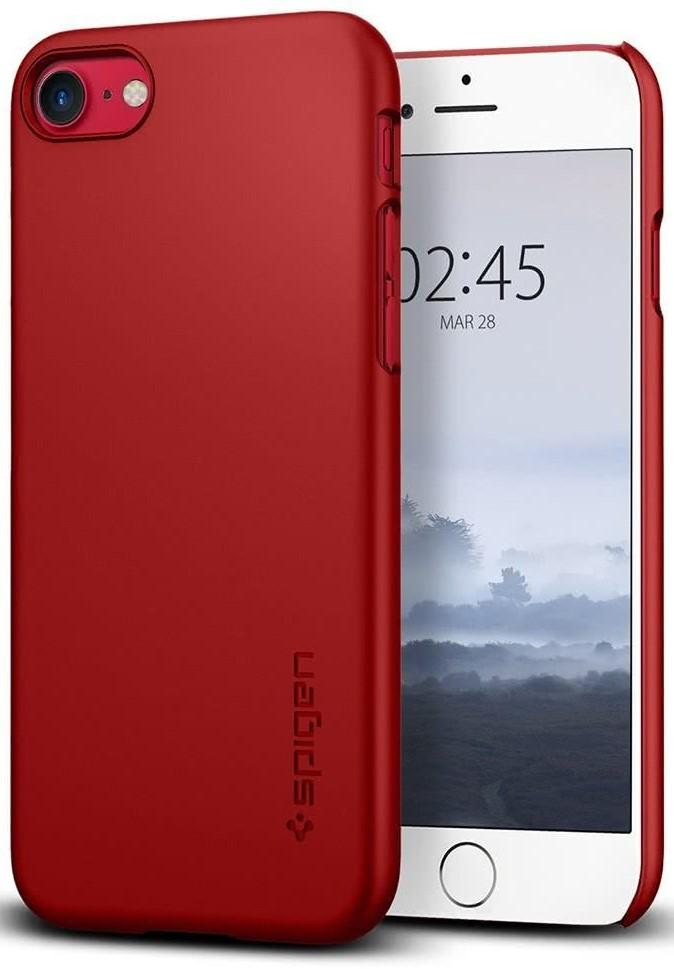 SPIGEN - iPhone 7/8 Case Thin Fit Red (042CS22381)