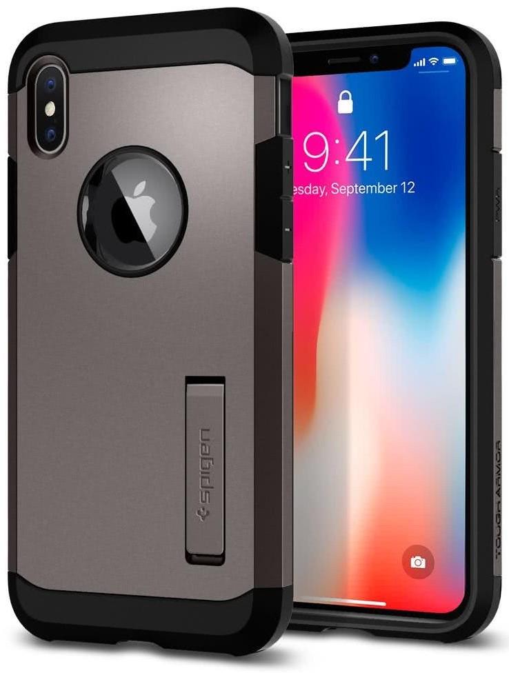 SPIGEN - Apple Iphone X Case Tough Armor Gunmetal (057CS22161)