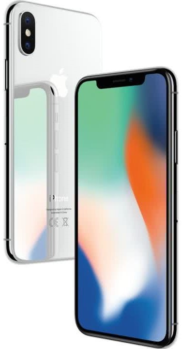 Apple iPhone X 64GB - Silver (MQAD2CN/A)