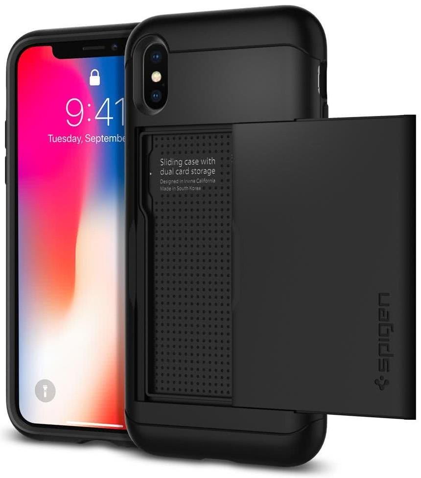 SPIGEN - iPhone X Case Slim Armor CS Black (057CS22155)