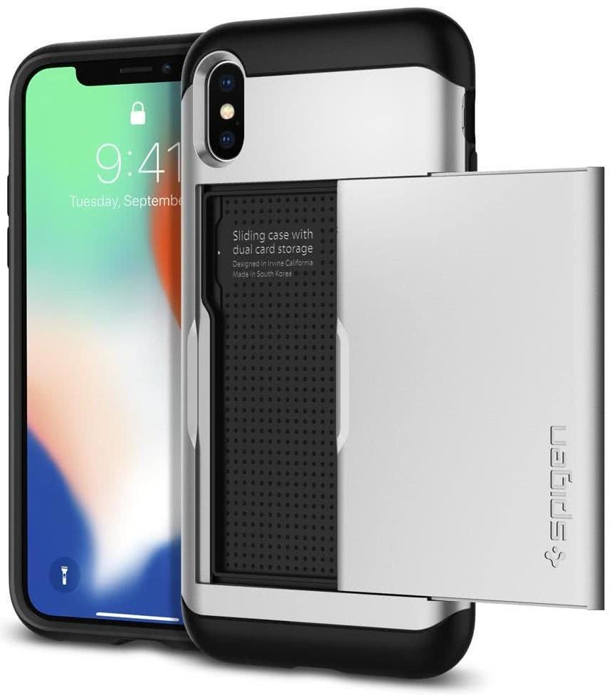 SPIGEN - iPhone X Case Slim Armor CS Satin Silver (057CS22158)