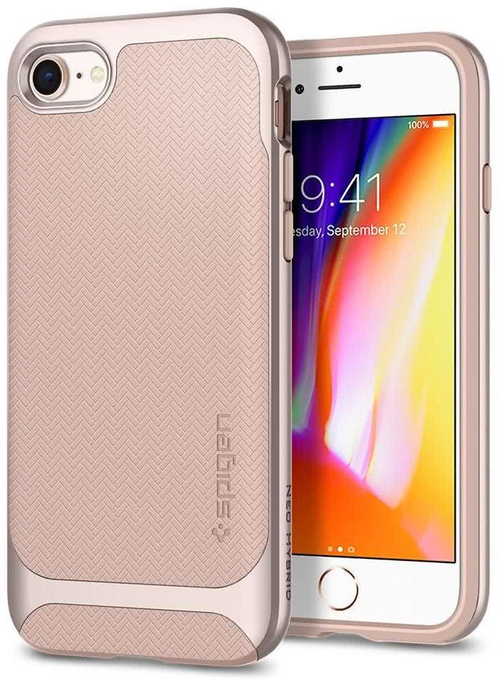 SPIGEN - Apple Iphone 8/7 Case Neo Hybrid Herringbone Pale Dogwood (054CS22202)