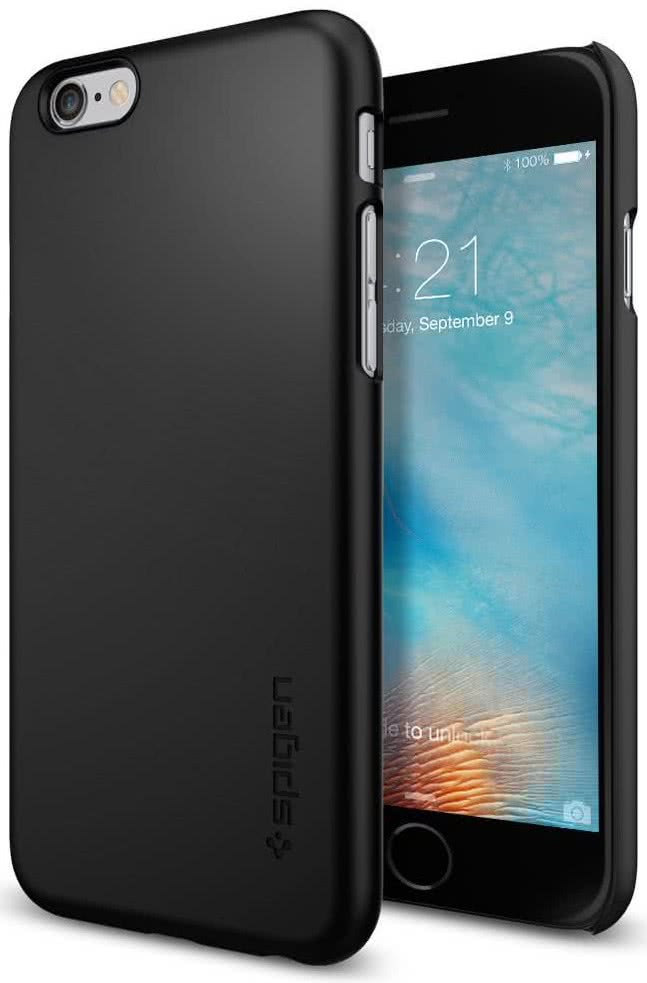 SPIGEN - Thin Fit, iPhone 6/6s, Black (SGP11592)