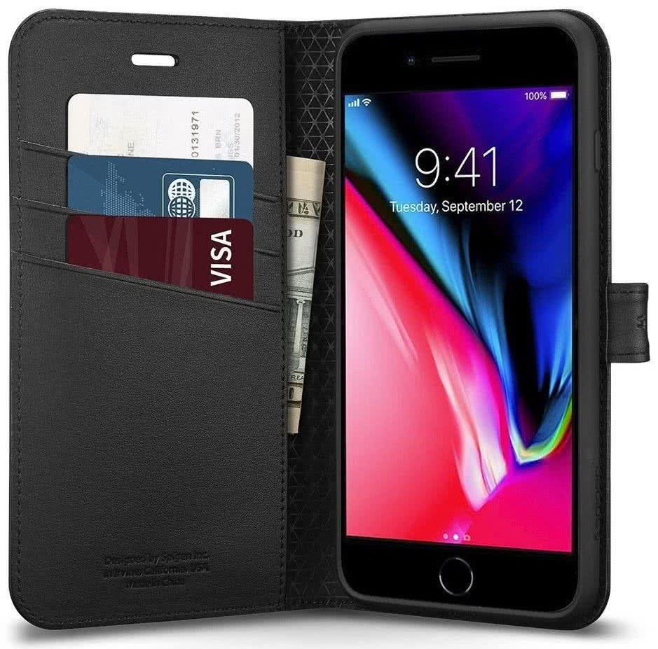 SPIGEN - iPhone 8/7 Case Wallet S Black (054CS22635)