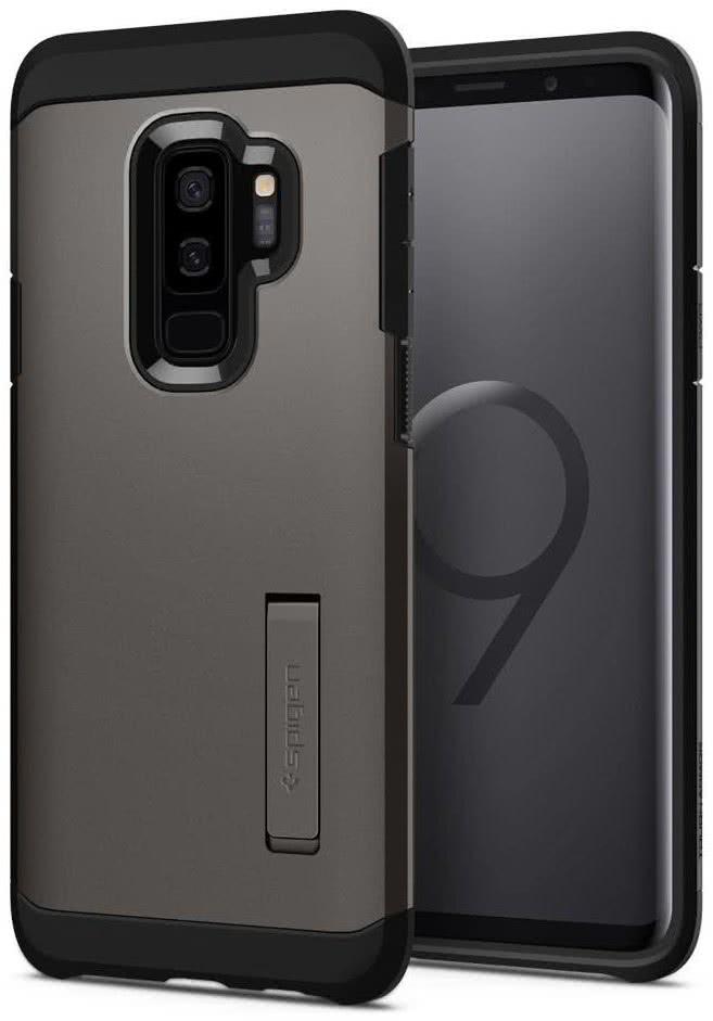 SPIGEN - Samsung Galaxy S9 Plus Case Tough Armor Gunmetal (593CS22932)