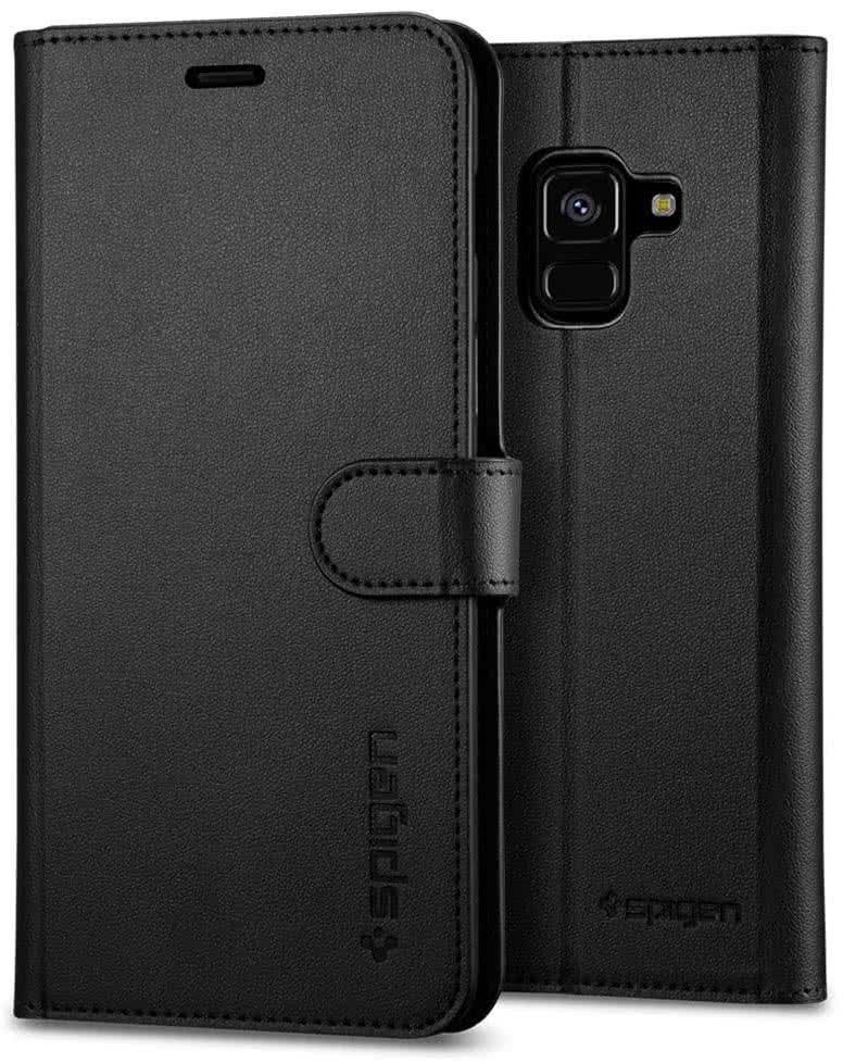 SPIGEN - Samsung Galaxy A8 2018 Case Wallet S Black (590CS22756)