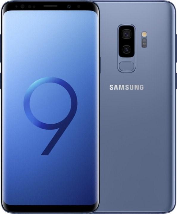 Samsung Galaxy S9 Plus Single SIM, Coral Blue (SM-G965UZBAXAA)