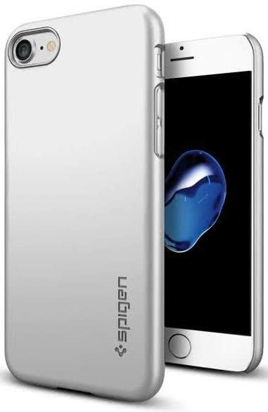SPIGEN - iPhone 7/8 Case Thin Fit Satin Silver (042CS20733)