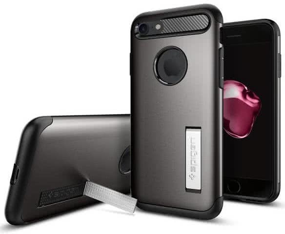 SPIGEN - iPhone 7/8 Case Slim Armor Gunmetal (042CS20301)