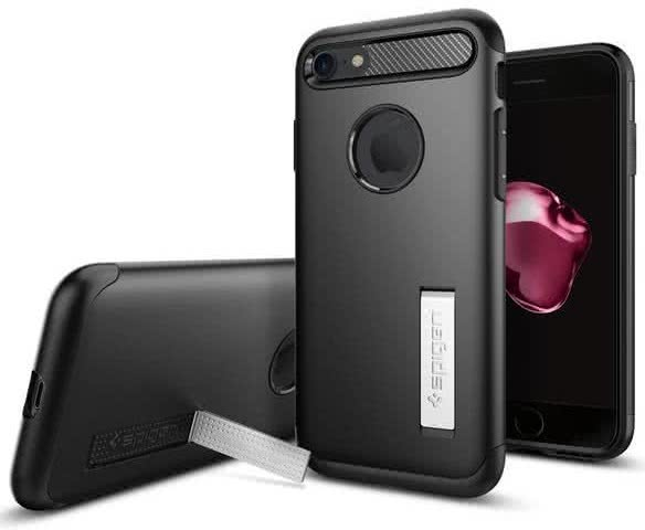 SPIGEN - iPhone 7/8 Case Slim Armor Black (042CS20647)