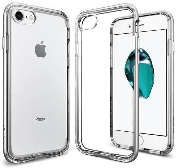 SPIGEN - iPhone 7/8 Case Neo Hybrid Crystal Satin Silver (042CS20676)