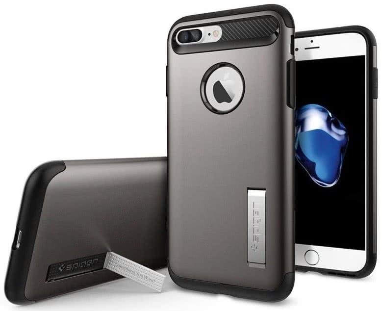 SPIGEN - iPhone 7/8 Plus Case Slim Armor Gunmetal (043CS20309)
