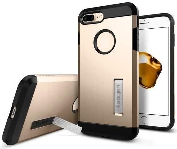 SPIGEN - iPhone 7/8 Plus Case Tough Armor Champagne Gold (043CS20530)