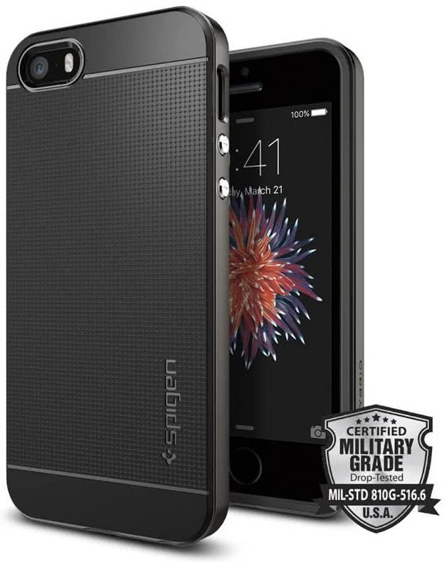SPIGEN iPhone SE Case Neo Hybrid Gunmetal (041CS20184)