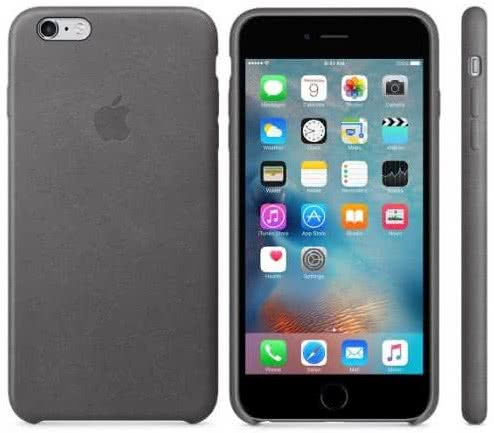 iPhone 6s Plus Leather Case - Storm Gray (MM322ZM/A)