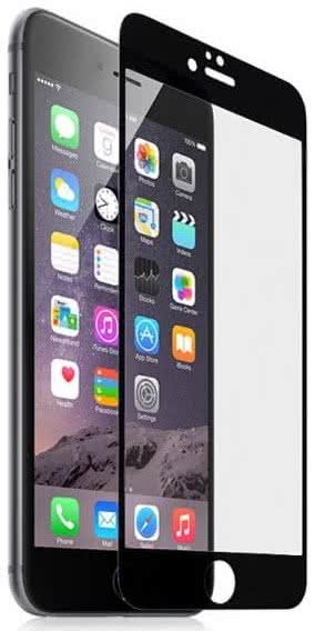Sklenená fólia GLASS PRO+ pre iPhone 6/6S/7/8 na celý displej, 0.30 mm, čierna