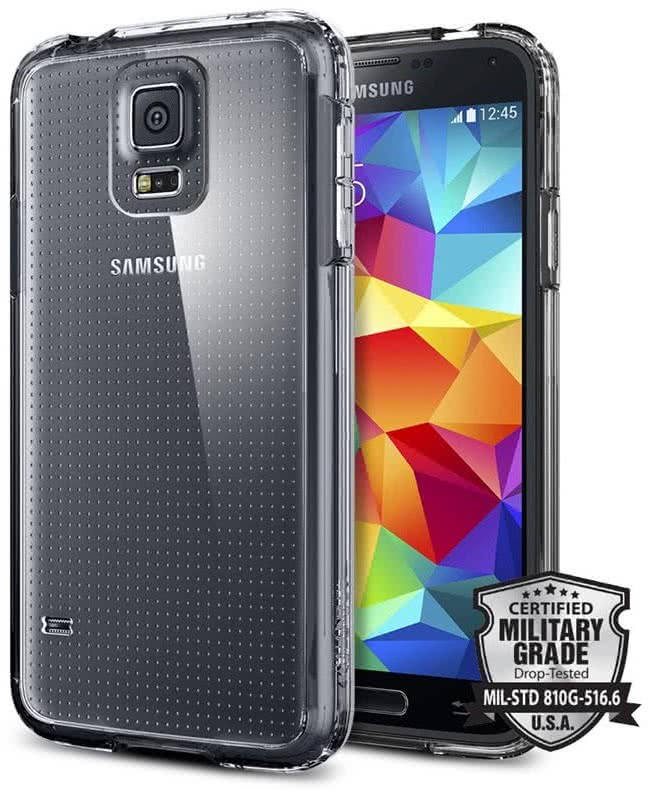 SPIGEN - Samsung Galaxy S5 Ultra Hybrid, crystal clear (SGP10741)