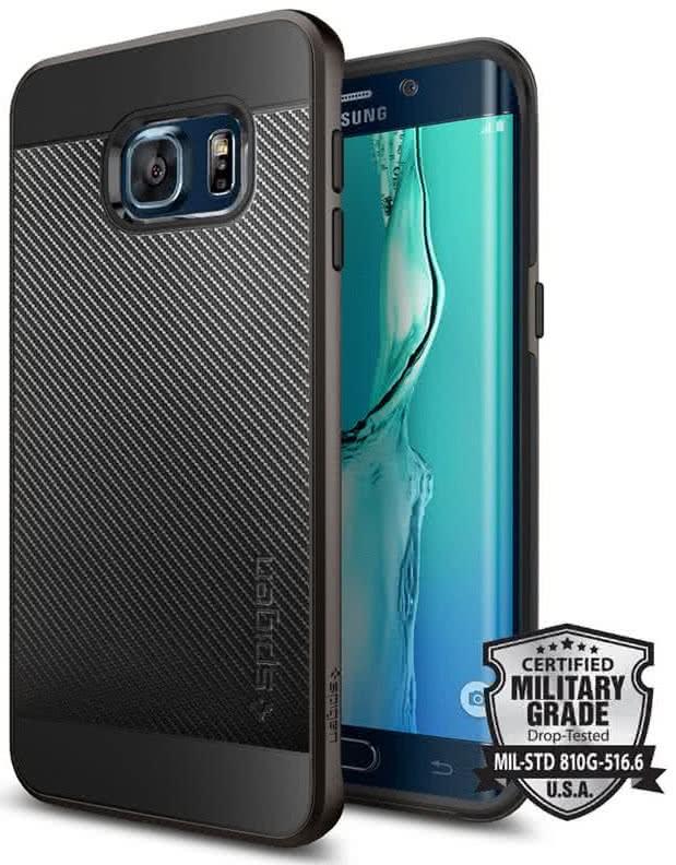 SPIGEN Neo Hybrid Carbon Samsung Galaxy S6 edge +, gunmetal (SGP11704)