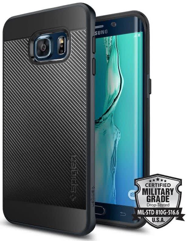SPIGEN Neo Hybrid Carbon Samsung Galaxy S6 edge +, metal slate (SGP11705)