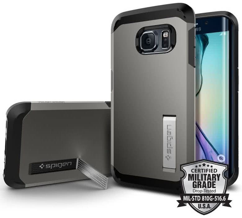 SPIGEN Tough Armor Samsung Galaxy S6 edge, gunmetal (SGP11430)