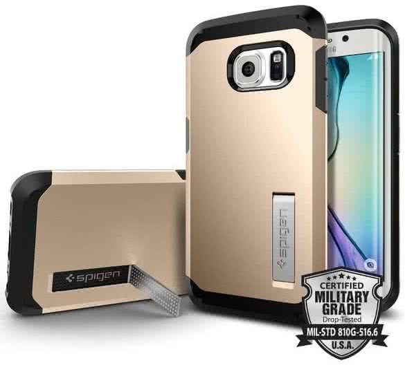 SPIGEN Tough Armor Samsung Galaxy S6 edge, champagne gold (SGP11431)