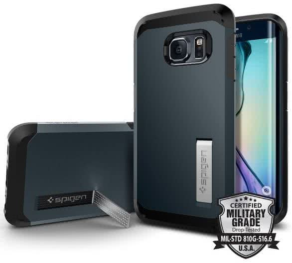 SPIGEN Tough Armor Samsung Galaxy S6 edge, metal slate (SGP11429)