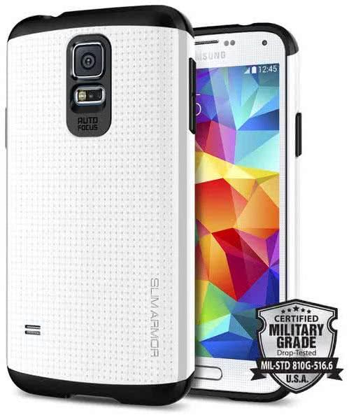SPIGEN  Slim Armor, infinity white - Samsung Galaxy S5 (SGP10755)