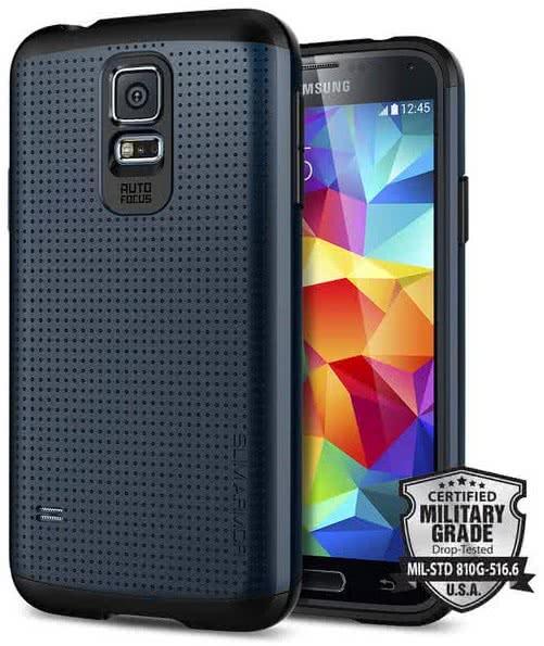 SPIGEN Slim Armor, metal slate - Samsung Galaxy S5 (SGP10751)